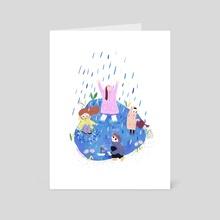 Rainy day - Art Card by Monica Meius