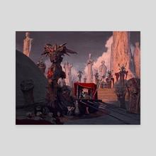 Burial - Canvas by Aldo Katayanagi