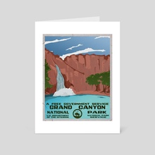 Grand Canyon, Havasu Falls - Art Card by Kristin Sholler