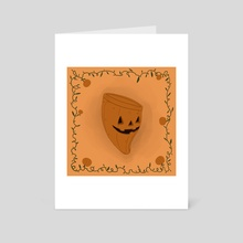 Pumpkin Menstrual Cup - Art Card by Michela Negri