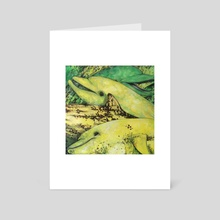 Bananas About Dolphins - Art Card by whitney anderson