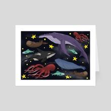 Into the Sleeping Sea - Art Card by Skylaar Amann