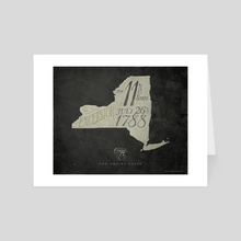 New York: The 11th State - Art Card by The Union Archive
