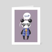 Sup Panda - Art Card by Indré Bankauskaité