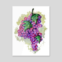 Purple Grapes from Africa - Acrylic by Sebastian Grafmann