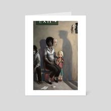 Underneath It All - Art Card by Rudy Faber