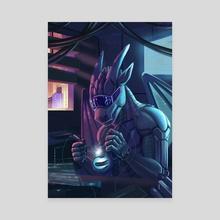 Imladris - Cyberpunk - Canvas by Kaja Sztajnykier
