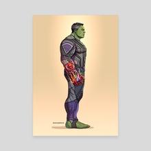 Professor Hulk - Canvas by Johnny Lighthands