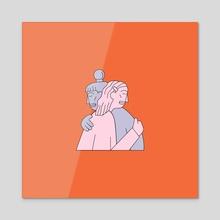Hugs - Acrylic by Sam Twardy
