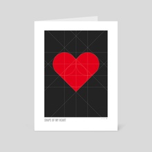 Shape of My Heart - Art Card by Simon C Page