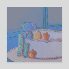 koya and friends cake - Canvas by fruitforrest