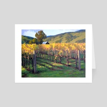 Napa Vineyards - Art Card by Armand Cabrera