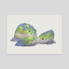 mossy pebbles #2 - Canvas by Mona Shin