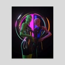 Alien sisters 1 - Canvas by Jianina Alondra