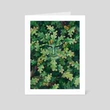 """Green Man"" - Art Card by Olga Demidova"