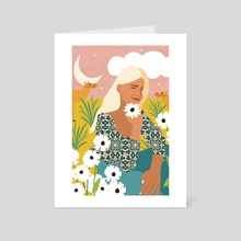 Patience & Humor Are The Two Camels That Can Take You Through Any Desert - Art Card by 83 Oranges