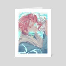 Kakyoin Hierophant Green - Jojo's Bizarre Adventure - Art Card by Dyalexa