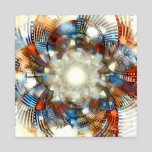 Optical illusion. Fractal Art - Canvas by Bruce Rolff