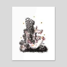 Black shroom momma - Acrylic by Scoobtoobins
