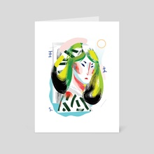 Face - Art Card by Lynn Scurfield