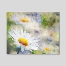 Margarita Flower - Mixed Media - Acrylic by Dreamframer