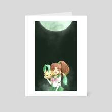 [SMxEEVEE] Jupiter & Leafeon - Art Card by Lisa Huang