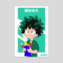 My Hero Academia - YOUNG DEKU - Canvas by Brian Muuo