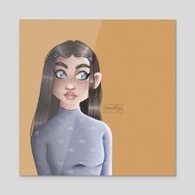 Mia - Acrylic by Leonie Rogge