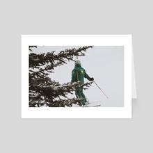 ski green - Art Card by Courtney Jane