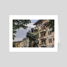 Statue, Verona, Italy. - Art Card by Charlie Collins
