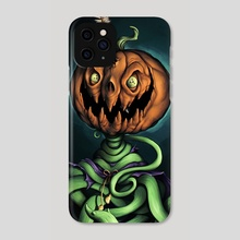 Mad Pumpkin  - Phone Case by Rodney  Amirebrahimi