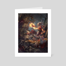 gallows of madness - Art Card by lie setiawan