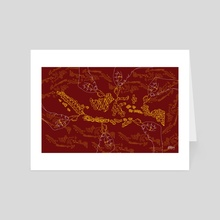 Indonesia in batik - Art Card by Dede