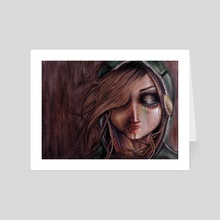 Disturbance of the pain-sensitive structures in my head - Art Card by Rouble Rust