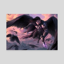 Champion of the Raven Queen - Canvas by Marcela Medeiros