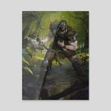 Garruk Apex Predator - Acrylic by Victor Adame