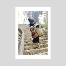 The stairs - Acrylic by Flavia Raddavero