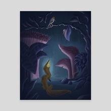 Rikki Tikki Tavi Talks to Darzee - Canvas by Harrison Pyle