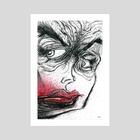 Rust Lips - Art Print by D-Wrex