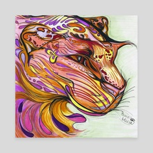 Jeweled Cat - Canvas by Hannah Maria