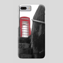 Low Angle Retro Red Telephone Box - Phone Case by Bethany Ann Funnell