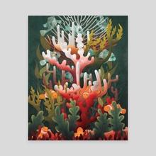 Coral Reef Bleaching - Canvas by Kristen Adam