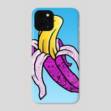 Pink Banana - Phone Case by Andre Koekemoer