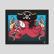 Octopus Pirate - Canvas by Micael Fernandes