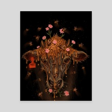 Cow bee  - Canvas by Oliver Marcotte