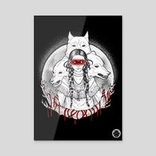 Wolf Spirit - A Halloween Series 2020 - Acrylic by Kay Ann