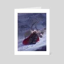 Snowstorm - Art Card by Anastasia Ovchinnikova