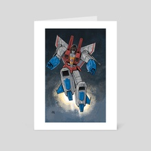 Starscream - Art Card by Brian Shearer