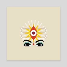 Third Eye - Canvas by Anuradha Grover