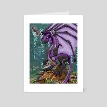 Purple Dragon Magician - Art Card by Karen Roop